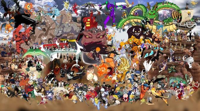 Di gambar berikut ada berbagai anime yang kalian sukai??