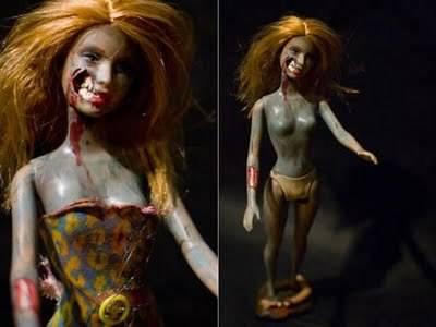 Barbie Zombie Boneka ini pernah tampil dalam film Thriller-nya Michael Jackson, barbie Zombi sexy, menakutkan, dan berbentuk menyerupai wanita modern. klik wow jika anda suka...