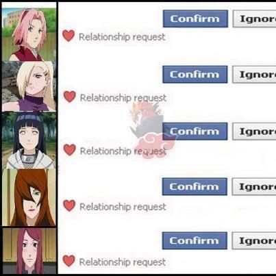 WOW!!!Jika Di Facebook Kalian ada Seperti Ini Yang Mana Akan Kamu Confirm.. Kalo Saya Sendiri Hinata