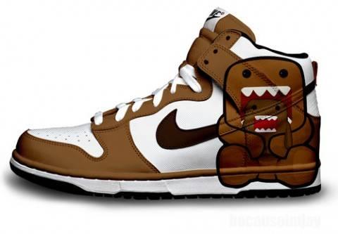 WOW..Sepatu Basket Bergambar Domo