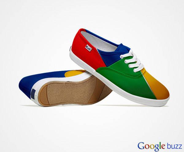 sepatu terkeren/terbaru 2012 Terinspirasi oleh warna-warna populer situs media sosial, Venezuelagrafis desainer Lumen Bigott menciptakan garis unik dari sepatuMedia Sosial. Koleksinya meliputi Facebook, Twitter, Google dan sepatu kets Wikipedi