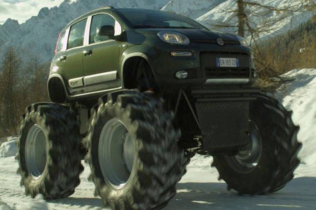 Edan, Crossover Imut Fiat Panda Dibikin Jadi Monster Truck