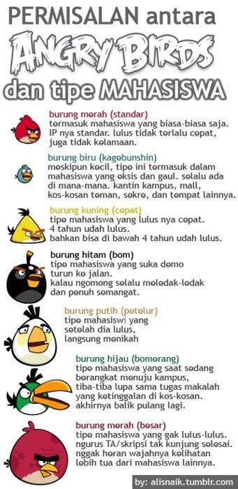 Pemirsalan Antara Tipe Angry Bird Dan Mahasiswa