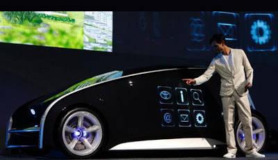 Mobil konsep yang diberi nama Fun-Vii tersebut ditampilkan di Tokyo, Jepang, jelang gelaran Tokyo Motor Show, Senin (28/11/2011). Dengan sekali sentuh, mobil tersebut bisa berubah tampilan dalam sekejap. jangan lupa wow nya ya