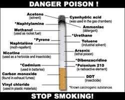 zat zat berbahaya pada rokok,bagi yang merokok,harus berhenti.