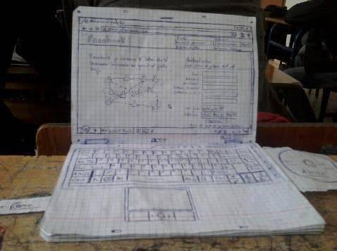 Wah Sepertinya anak ini ngidam banget pengen punya laptop, sampe menggambar se-detail ini .. Jangan lupaa WOW nyaaaa .. :D