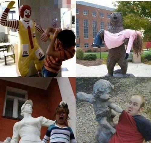 jiahaha =D ini patung yg unik yah =D bagi yg kreative langsung foto deh hhe unik yah? WOW-nya ya