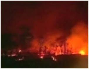 Kebakaran yang menggabungkan angin yang kuat di Brazil menciptakan sebuah tornado api. baru kemarin terjadi beberapa peristiwa aneh yaitu hujan kodokn dan 4 matahari di china yang muncul bersamaan, ternyata sekarang terjadi Tornado Api dibrazil