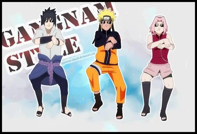 ternyata ninja konoha demam GANGNAM STYLE juga..hehehe #Jangan Lupa Klik WoW Yach..!!