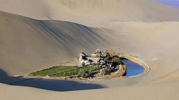 *SEJARAH KEMAS KINI MDKA* Ini bukanlah halusinasi tetapi ini adalah sebuah Oasis di Padang Pasir Gobi, China
