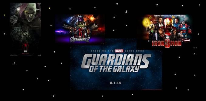 4 FILM2 MARVEL YANG AKAN DATANG DI ANTARANYA : THE AMAZING SPIDERMAN2, IRON MAN 2, AVANGER 2 , THE GUARDIANS OF THE GALAXY.....