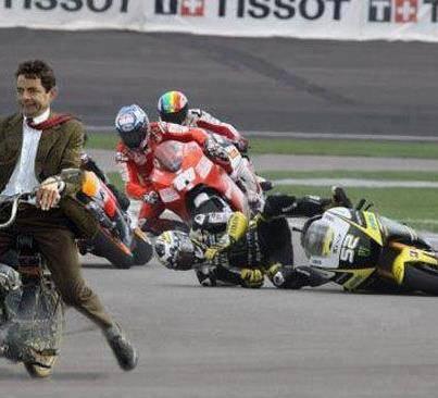 Ketika Mr.Bean menjadi Juara balap F1.. WOW