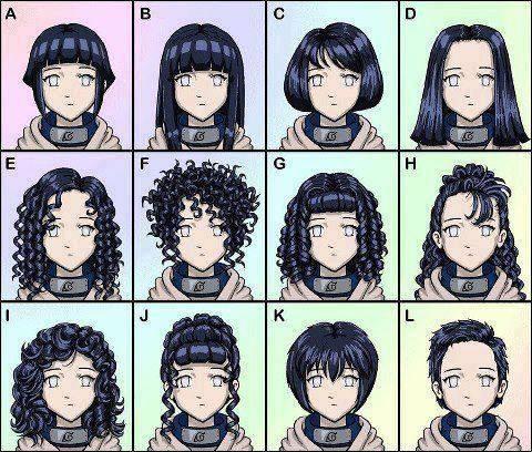 Menurut Kamu Mana Mode Rambut Yang Cocok Buat Hinata Ketika Dia Bertemu Naruto ? Tentukan Pilihanmu ..