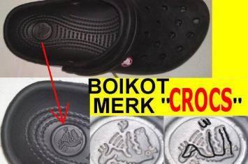Boikut sandal berlafadz allah , waspadalah kalian apabila ada suatu logo kaya gini, coba fikir sama kalian lafadz allah di sandal ini asli dari pencipta alam nya atau dengan tangan manusia sendiri , jawab ?