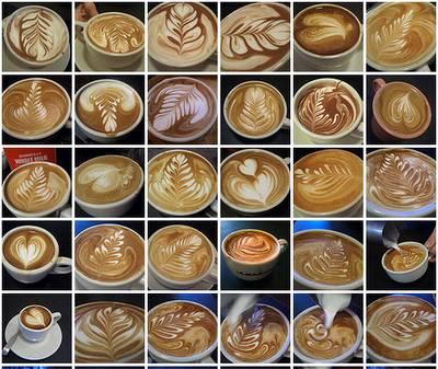 wow keren, macam-macam seni latte