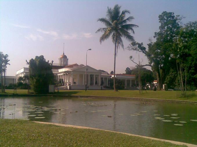 Foto Istana Bogor, Dari halaman belakang. terdapat banyak tumbuhan Tropis, INDAH SEKALI ;)