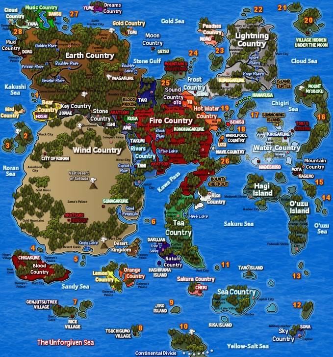 gambar peta di dunia naruto.. keren gak gan.. jgan lupa WOWnya ya gann.. ;)