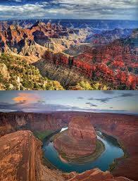 Grand Canyon - Amerika Serikat Granda Canyon adalah sebuah ngarai raksasa yang terbentuk dari proses pengikisan sungai Colorado selama 17 Juta tahun (Menurut perkiraan para ahli). dalam proses yang sangat panjang itulah terbetuk sebuah ngarai.