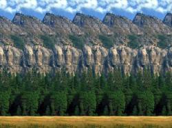 Dilihat sekilas, gambar tersebut hanya gambar biasa, ada langit, gunung, batu, pepoho