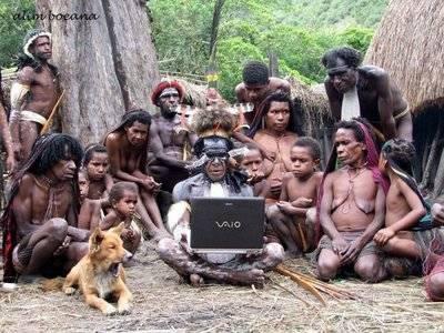 Yang Belum Tahu Internet Bukan Maen Katronya...... Africa Pun Udah Apalagi Loe..... Jangan Lupa WOWnya.......