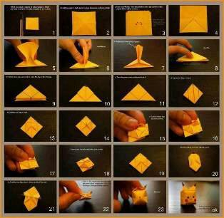 Cara membuat Dakocan dari kertas origami! WOW, yaa!
