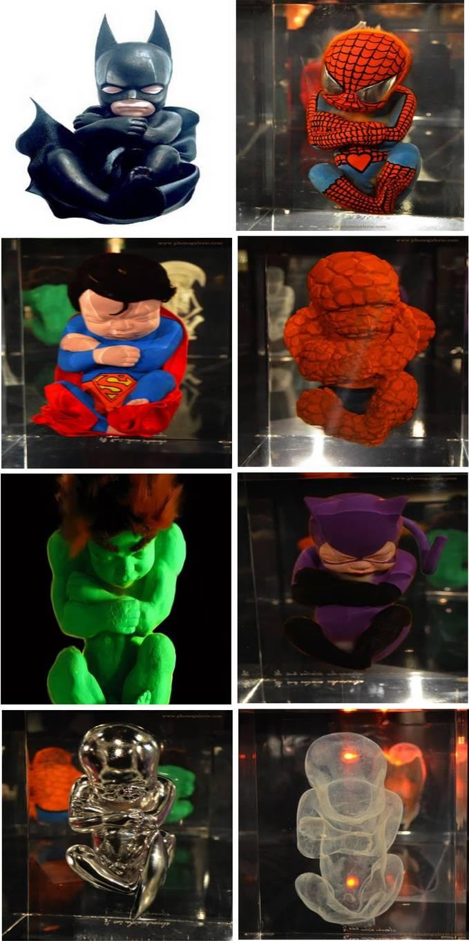WOW ........Tokoh-tokoh superhero dalam bentuk janin Coba pilih yang menjadi idola kalian ^__^