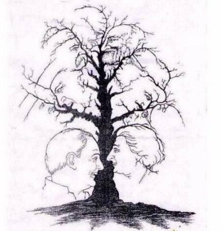 ada berapa muka di gambar pohon ini kalo saya sih ketemunya 11 gambar muka kalo lebih mah gak tau deh