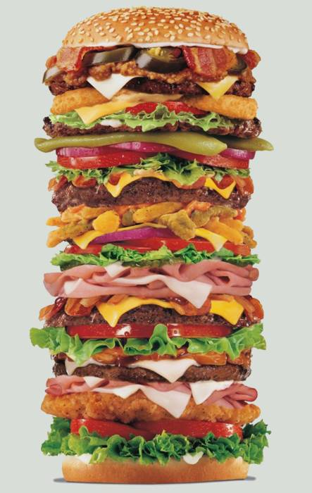 Plusker Bisa Sebutin Apa Aja isi dari Hamburger Super gede ini..^__^