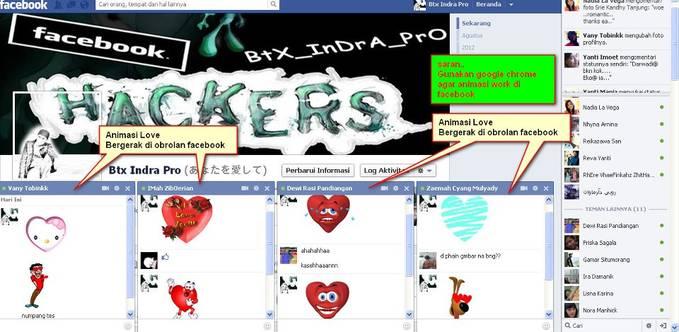 Kali ini saya share Animasi Love yang dapat bergerak di chatingan facebook.. bagi mau coba Buka link dibawah ini ya:) http://btxindra-pro.blogspot.com jika bingung ada tutorial nya di web ya