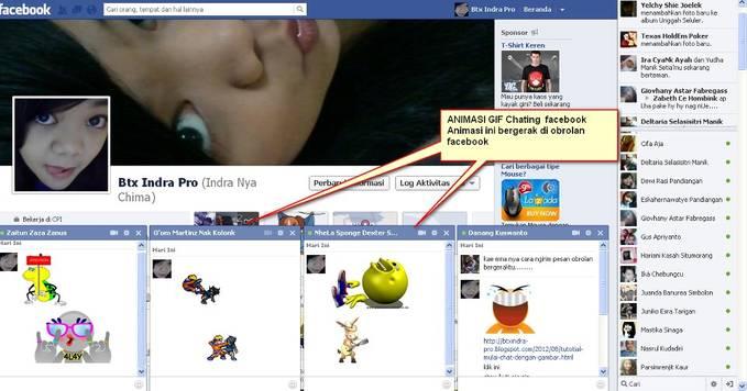 Creenshot Chating Facebook Animasi GIF (GAMBAR BERGERAK) Kali ini saya share Animasi Kaskus yang dapat bergerak di chatingan facebook.. nah.. bagi mau coba langsung aja ke http://btxindra-pro.blogspot.com