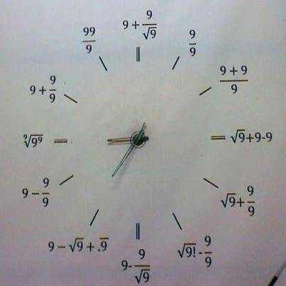 Amazing Mathematical Clock the best part is they use only 9