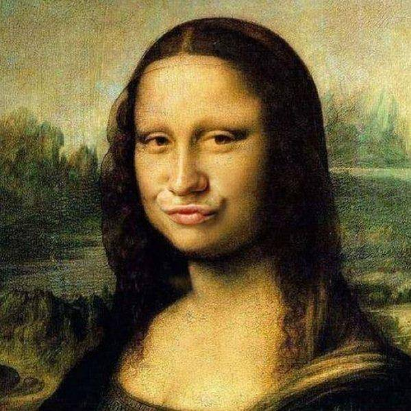 Editing face Of Monalisa!!