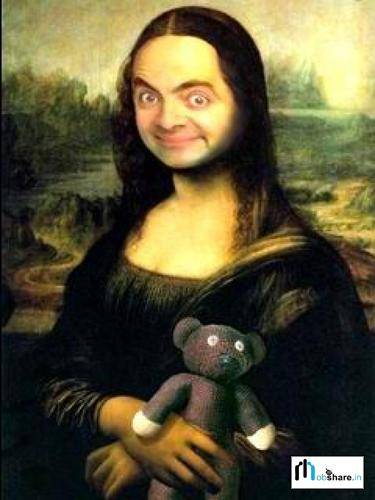 Mr. bean jadi Monalisa. Gimana ya, klau Monalisa jadi Mr. bean. makasih udah klik wow :)