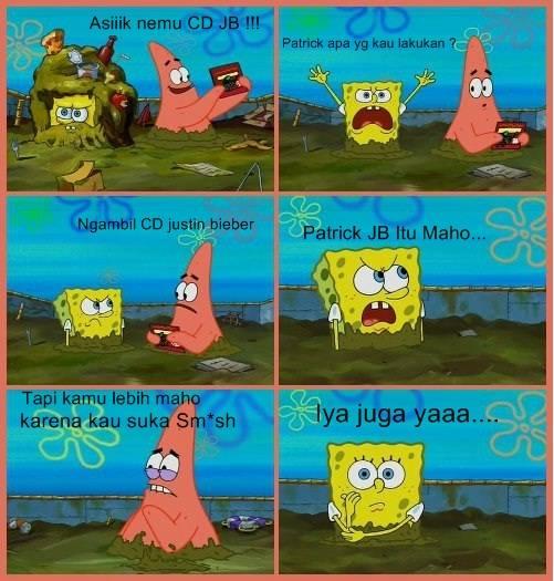 Ternyata Spongebob sama Patrick maho!!, nih buktinya