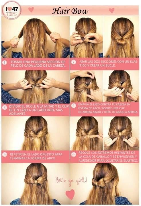 Cara membuat bentuk pita pada rambut, KLIK WOW jngan lupa Coment nya !!