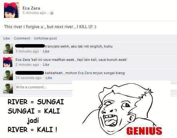 gini nih kalau terlalu genius menggunakan bahasa inggris