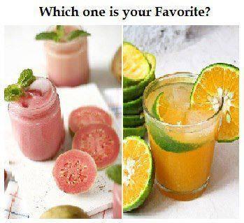 jus yang seger tepat di siang hari jus apa ya ?? Kalian Pilih mana ? Jus jambu atau Jus jeruk ?? Wow nya ya