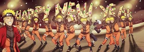 Naruto dan Kakashi Mengucapkan Selamat Tahun Baru!