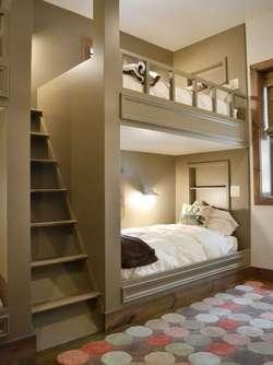 keren, tempat tidur yang bawah tidak langsung berhubungan ke atas,harus melewati tangga desain khusus..bagus yam ^_^