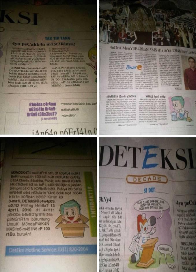 Beberapa Koran yang menyajikan berita dengan bahasa Alay..^_^ WOW