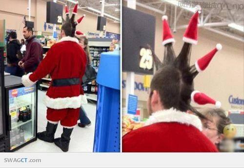 Akhirnya Muncul Juga Style Santa Bergaya Punk, Ada Yang Mau Coba ?