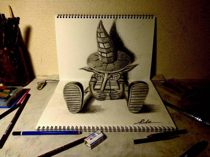 GAMBAR 3D yang hanya di buat dengan pensil ...gimana gak kereeeennn..!!! yang SE7 (setuju) gambar ini emang keren klik WOW (^_^)