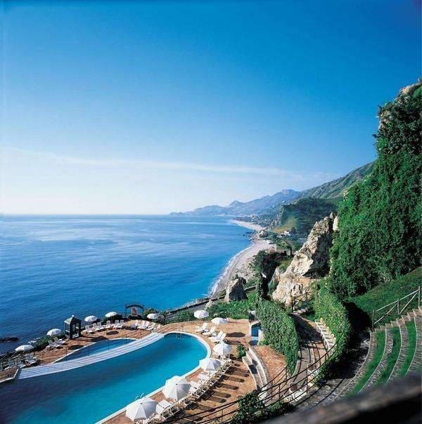 Taormina on the coast of Sicily,Italy