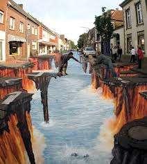 lukisan 3D , keren bengetsss !!! kayak beneran yaa !!! yang bilang keren,unik dan serem , klik wow ya ;)