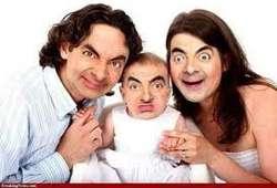 ini adalah foto keluarga MR.BEAN