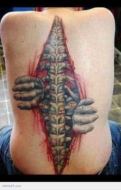 3D Tattoo Yang Mengerikan !