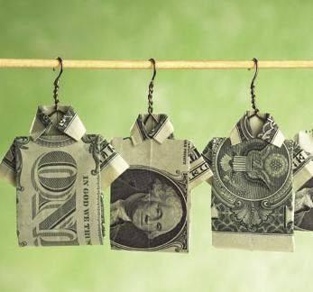 Wow Unik dan Keren Jemuran baju uang kertas
