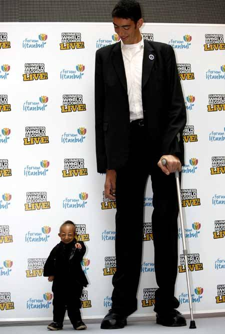 orang tinggi dan terpendek di dunia, klik WOW nya ya
