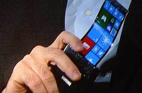 Samsung Pamer Ponsel dengan Layar Fleksibel