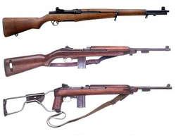 1. Sten Gun (Mk I - Mk VI) Sub machine gun buatan Inggris ini mulai diproduksi taun 1941. Didesain oleh Major Reginald V. Shepherd dan Harold J. Turpin. SMG ini didesain untuk bisa mudah diproduksi massal dan murah harganya. Tidak heran kalau bentuk SMG ini simpel dan kasar. Perbandingan harganya adalah 15 sten gun sama dengan 1 Lee Enfield. Pejuang kita merampasnya dari tentara Inggris. Rate of fire: 500 peluru/menit. Jarak efektif: 60 m. 2. LE (Lee Enfield) SMLE (Short Magazine Lee Enfield), merupakan bolt action rifle yang awal-awal mengadopsi sistem magasin. Pertama diproduksi oleh Inggris taun 1895 dan digunakan di dua perang dunia bahkan pada konflik afganisthan. Sesuai namanya, senapan ini didesain oleh James Paris Lee, RSAF Enfield. Pejuang kita merampasnya dari Inggris dan Belanda. Jarak efektif: 503 m 3. Owen Owen merupakan SMG buatan Australia. Pertama diproduksi tahun 1938. Didesain oleh Evelyn Owen, veteran tentara Australia. DIbuat berdasarkan SMG Sten Gun Inggris dan Thompson amerika. Dirampas dari Inggris. Rate of Fire: 700 peluru/menit. 4. M1 Garand Mungkin inilah bolt action rifle sekutu paling terkenal di muka bumi semasa perang dunia 2. Senjata ini pasti jadi senjata wajib kalo agan main game fps WWII kayak Call of Duty. Senjata bolt action terlaris dalam sejarah. Buatan Amerika Serikat, pertama diproduksi tahun 1936. Didesain oleh John C. Garand. Dirampas dari Inggris dan Belanda. Jarak efektif 402 m. 5. Bren Siapa tak kenal Bren? Light machine gun dari Inggris ini merupakan andalan sekutu untuk menyaingi light machine gun Jerman yang terkenal, MG42. Sangat terkenal dan digunakan secara luas di hampir seluruh permukaan bumi. Sebenarnya Bren merupakan modifikasi dari light machine gun Cekoslovakia, ZB vz. 26. Pertama diproduksi 1935. Dirampas dari Inggris dan Belanda. Rate of Fire: 500–520 peluru/menit. Jarak efektif: 550 m. 6. Arisaka (??? Arisaka-j?) merupakan bolt action rifle buatan Jepang. Terdiri dari 5 varian, type 30, 38, 44, 97, 99. Peju